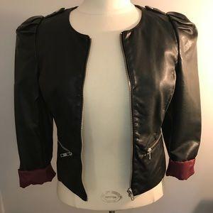 H&M black leather jacket! Never worn!